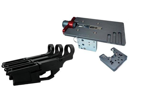 AR-10 Fire/Safe Marked 80% Billet Lower (3-pack) & Easy Jig Gen 2 Multi Platform w/ Tooling - AR-15 Lower Receivers