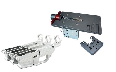 AR-10 RAW Fire/Safe Marked 80% Billet Lower (3-pack) & Easy Jig Gen 2 Multi Platform w/ Tooling - AR-15 Lower Receivers
