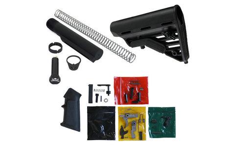 AR15 Lower Parts Kit, Butt Stock, Buffer Tube Assembly - CMMG - AR-15 Lower Receivers
