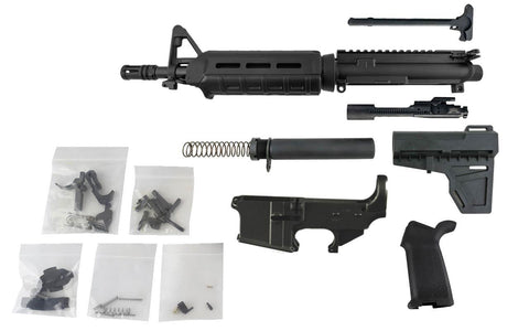 "AR-15 Pistol Kit (5.56 Caliber, 10.5"" Barrel & Magpul Hand Guard) w/ 80% Lower Receiver - AR-15 Lower Receivers"