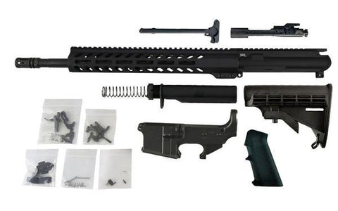 "300 Blackout Freedom Build Kit (16"" Barrel and MLOK Handguard) with AR15 Fire/Safe 80% Lower - AR-15 Lower Receivers"