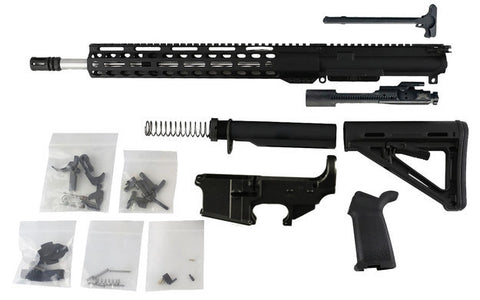 "AR-15 Build Kit - 5.56 (13.5"" M-Lok Upper & 16"" Stainless Barrel) with Fire/Safe Engraved 80% Lower Receiver - AR-15 Lower Receivers"