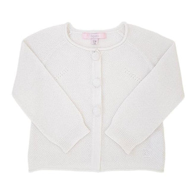 Cardigan bébé fille occasion - Marque luxe REPETTO bebe fille 12 mois blanc