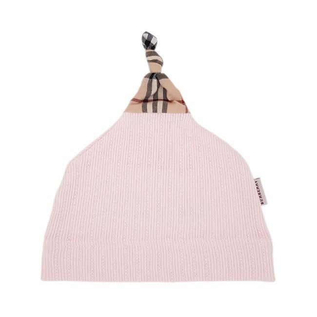 Bonnet bébé fille d'occasion - BURBERRY bebe fille 6 mois rose imprimé check