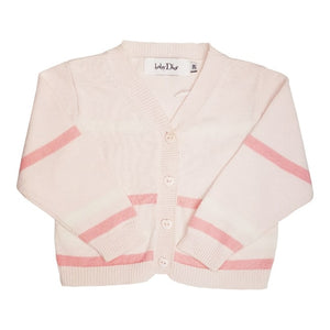 BABY DIOR Cardigan rose à rayures 3 mois