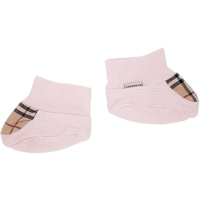 Chaussons bébé fille occasion - BURBERRY bebe fille 6 mois rose