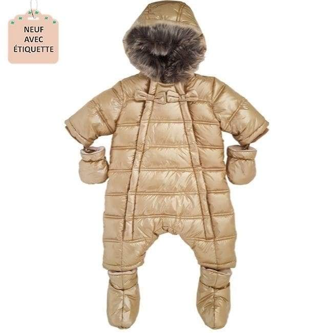 Combi-pilote bebe fille TARTINE ET CHOCOLAT 3 mois or version doudoune