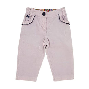 PAUL SMITH JUNIOR Pantalon bébé fille rose en velours 6 mois