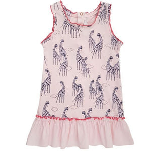 LITTLE MARC JACOBS Robe bébé fille rose motif girafes 6 mois