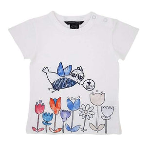 LITTLE MARC JACOBS Tee-shirt bébé fille blanc en coton 12 mois