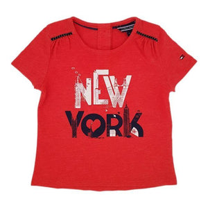 TOMMY HILFIGER Tee-shirt bébé fille orange 6-9 mois