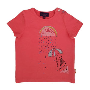 PAUL SMITH JUNIOR Tee-shirt bébé fille corail 6 mois
