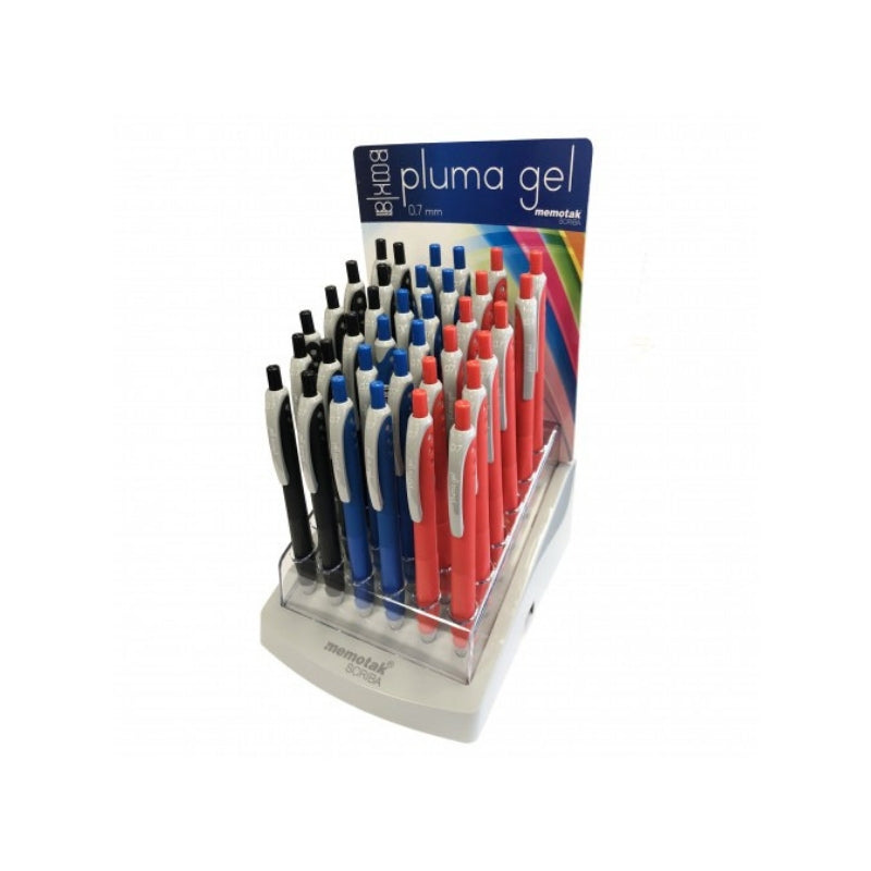 penna pluma gel 0.7mm memotak