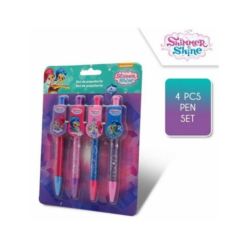 penne shimmer and shine set 4 pezzi