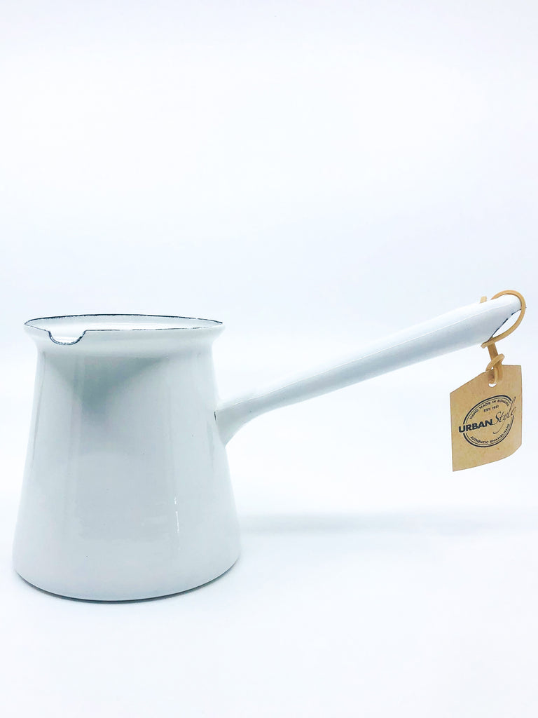 Enamelware Chai Teapot 450ml, for brewing the perfect  cup of chai on the stovetop