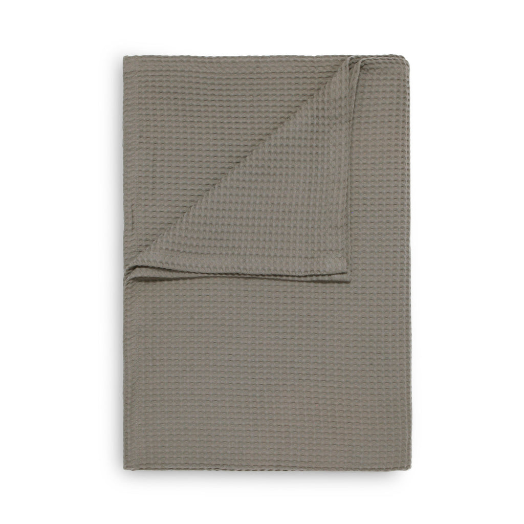 Wafel plaid taupe grey - 100% Katoen