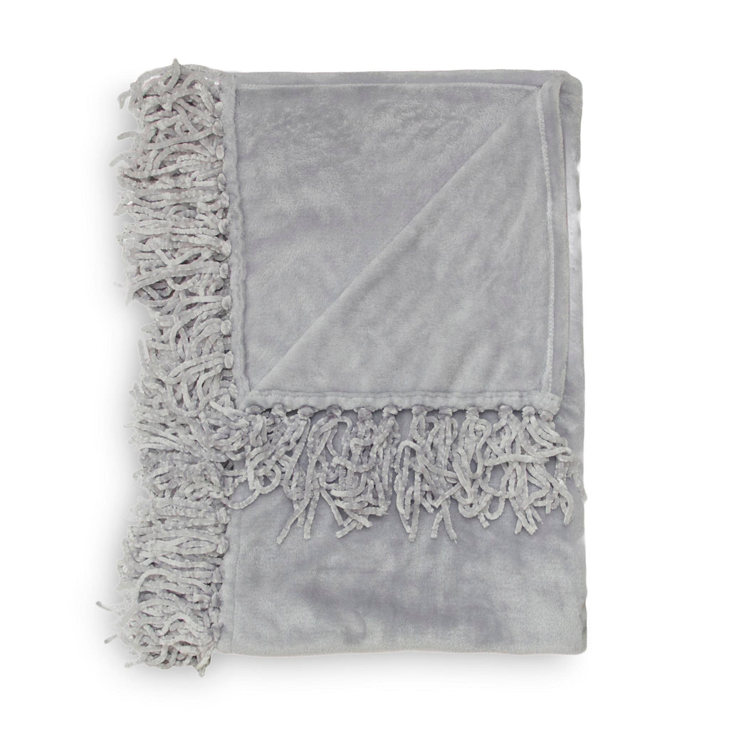 Plaid Ava 150x220 cm silver grey - 100% Polyester