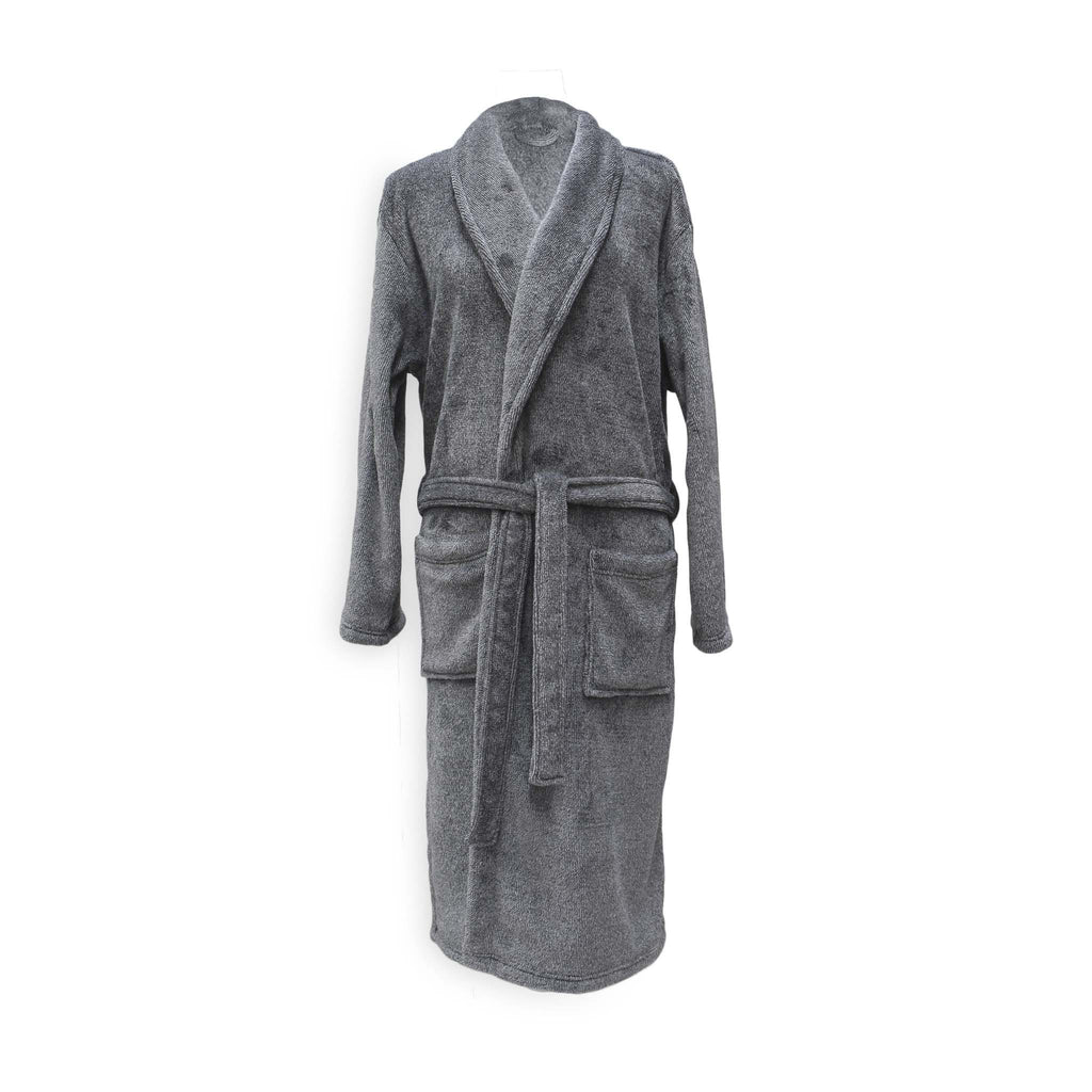 Badjas Mel dark gull grey - 100% Polyester