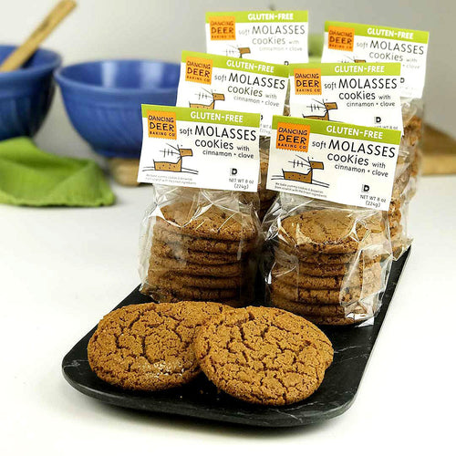 Gluten-Free Soft Molasses Cookie (Half Case) - Dancing Deer Baking Company