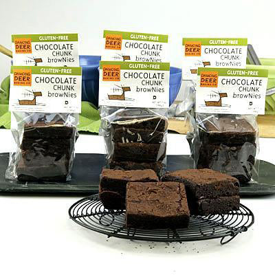 Gluten-Free Chocolate Chunk Brownie (Half Case) - Dancing Deer Baking Company