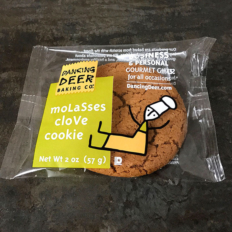 Single Serve Molasses Clove Cookie (Case) - Dancing Deer Baking Company