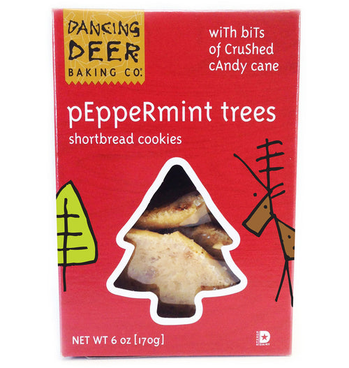 Peppermint Trees Shortbread Cookies - Dancing Deer Baking Company
