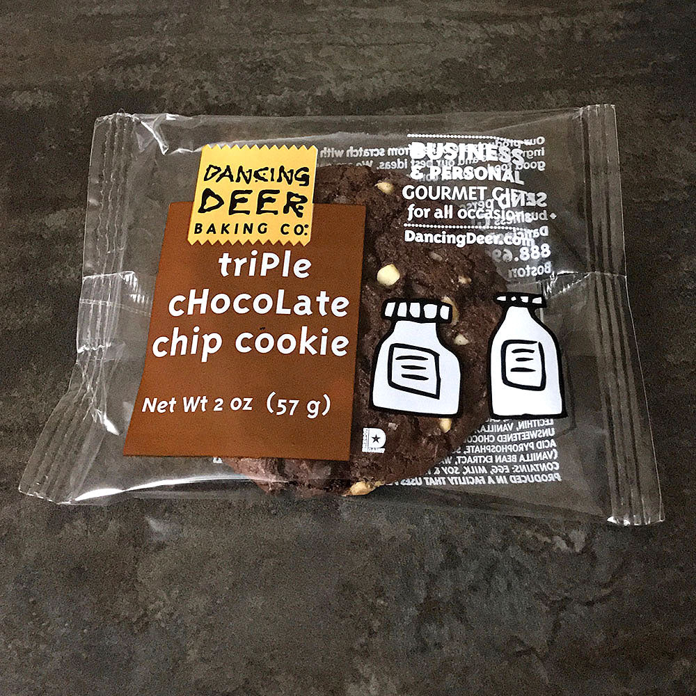 Single-Serve Triple Chocolate Chip Cookie (Case) - Dancing Deer Baking Company