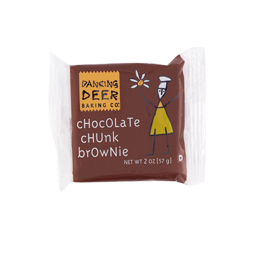 Single Serve Chocolate Chunk Brownie (Half Case) - Dancing Deer Baking Company