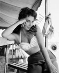 Classic Elizabeth Taylor pose on the set of Giant (0003)