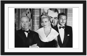 Alfred Hitchcock, Oleg Cassini and Grace Kelly (0007)