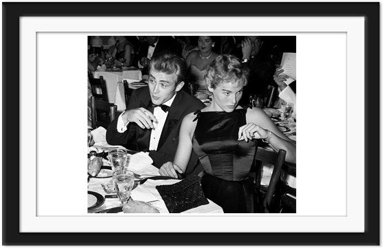 Black tied James Dean at dinner with Ursula Andress (0020)