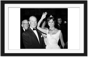 Sophia Loren with Maurice Chevalier (0040)