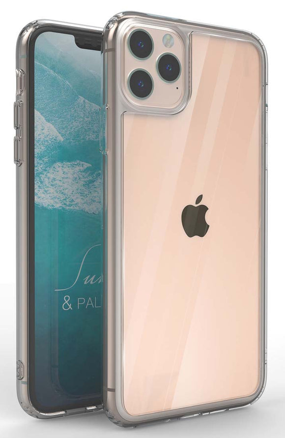 Blue Diamond Tempered Glass Clear Hybrid Case Slim Cover for iPhone 11 Pro Max