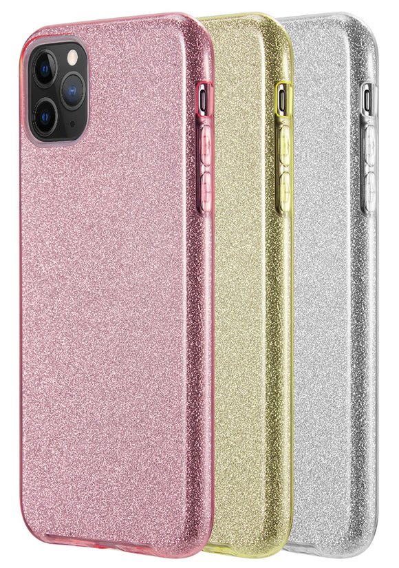 Sparkling Glitter Hybrid Flex Skin Case Cover for Apple iPhone 11 Pro Max (6.5