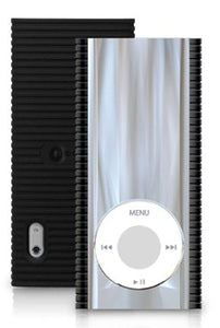 MACALLY MIRAGE REFLECTIVE BLACK CLEAR CASE HARD COVER FOR iPOD NANO 5th GEN 5G 5
