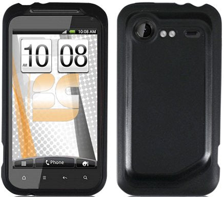 NEW BLACK AQUAFLEX SKIN CASE COVER FOR VERIZON HTC DROID INCREDIBLE-2 ADR6350