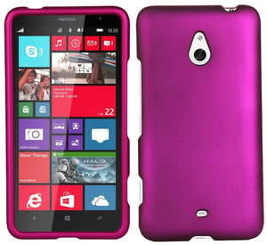 PINK PROTEX RUBBERIZED HARD CASE PROTECTOR COVER FOR NOKIA LUMIA 1320 PHONE