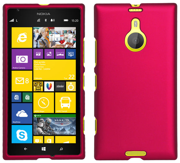 PINK RUBBERIZED PROTEX HARD CASE PROTECTOR COVER FOR AT&T NOKIA LUMIA 1520