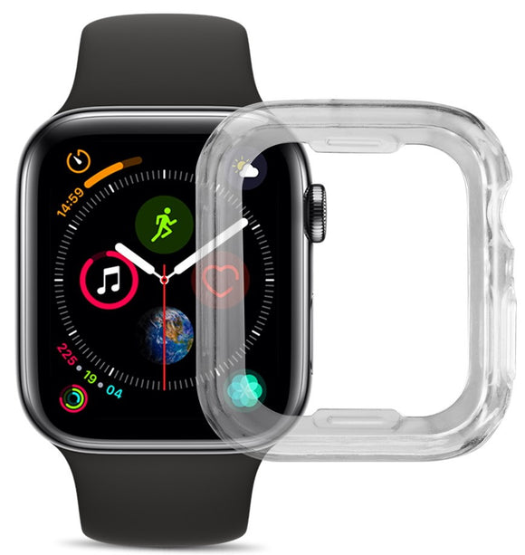 Clear Transparent Flexible TPU Skin Case Cover for Apple Watch (SERIES 4, 44mm)