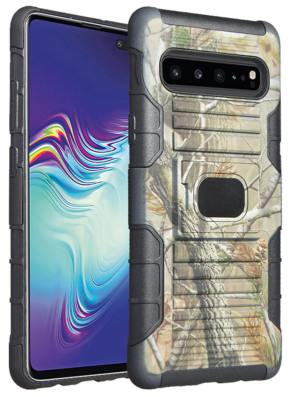 Outdoor Camo Tree Leaf Real Woods Case Rugged Cover for Samsung Galaxy S10 5G