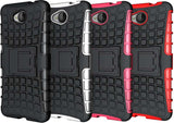 RED GRENADE GRIP RUGGED TPU SKIN HARD CASE COVER STAND FOR MICROSOFT LUMIA 650