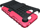 PINK GRENADE GRIP RUGGED TPU SKIN HARD CASE COVER STAND FOR MICROSOFT LUMIA 650