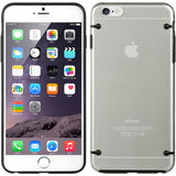 BLACK CLEAR TRANSPARENT LUXMO FUSION HARD SKIN CASE COVER FOR iPHONE 6 PLUS 5.5""