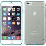 BABY BLUE CLEAR TRANSPARENT FUSION HARD SKIN CASE COVER FOR iPHONE 6 PLUS 5.5""