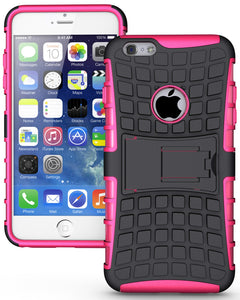 PINK GRENADE GRIP RUGGED TPU SKIN HARD CASE COVER STAND FOR iPHONE 6 PLUS 5.5""