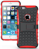 RED GRENADE GRIP RUGGED TPU SKIN HARD CASE COVER STAND FOR iPHONE 6 PLUS 5.5""