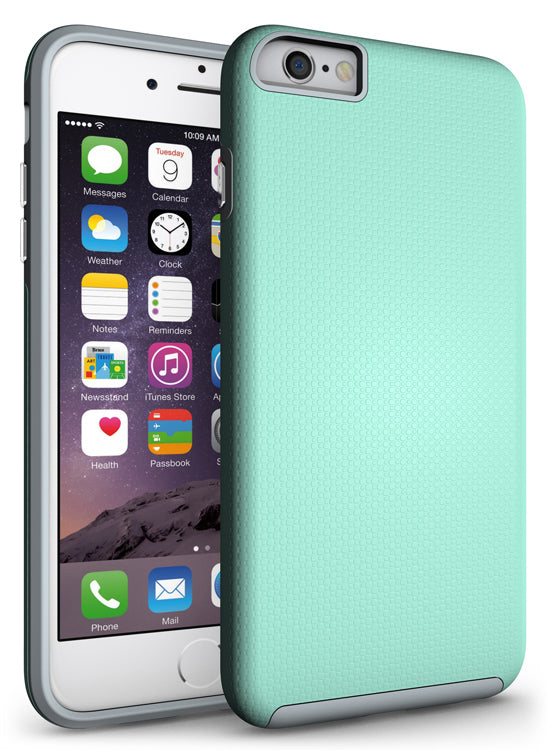 ANTI-SLIP MINT TEXTURED GRIP SOFT SKIN HARD CASE COVER FOR APPLE iPHONE 6 / 6s