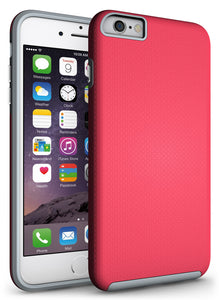 ANTI-SLIP PINK TEXTURED GRIP SOFT SKIN HARD CASE COVER FOR APPLE iPHONE 6 / 6s