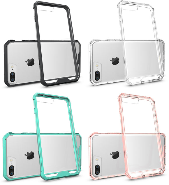 CLEAR TRANSPARENT AIR HYBRID ANTI-SHOCK TPU CASE HARD COVER FOR iPHONE 7/8 PLUS