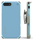 PureGear Blue Dualtek Extreme Rugged Case + Belt Clip for iPhone 7 Plus, 8 Plus